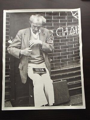 Stores Close By (OLD MAN RESTING BY CLOSED NEW YORK STORE FRONT 1970's ABSTRACT)
