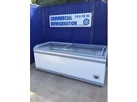 2.5m AHT Display Freezer Frozen Fish Meat Dairy Display Fridge Catering