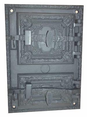 Cast Iron Fire Door Clay Bread Oven Pizza Stove Fireplace Grey PZ) 41,5 x 29,5