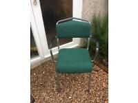 Ikea green fabric padded chairs