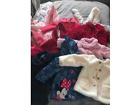 Bundle of girls coats 6-9 months