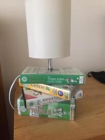 Celtic lamp made with video cassettes