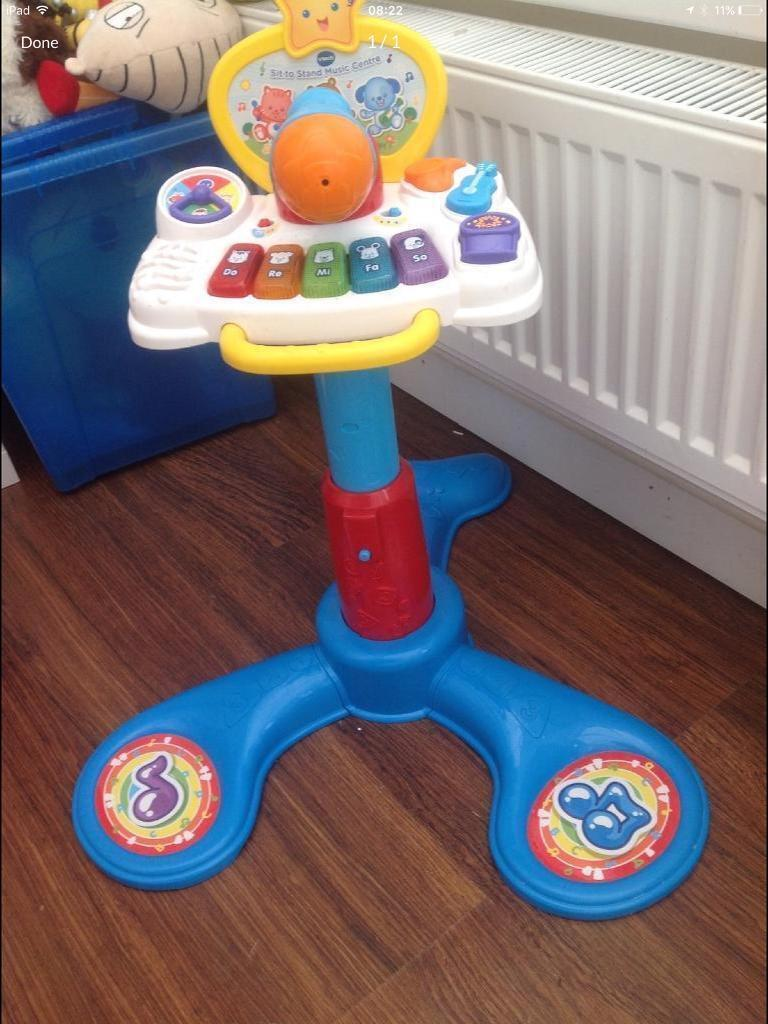 Vtech microphone sit to stand music centre