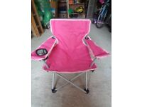 Childrens Pink Camping Chair