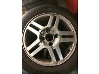 195 60 15 Ford Focus alloy wheels and tyres