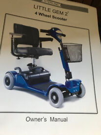 4MPH Mobility scooter in good working order call 07702 640102