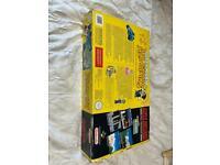 Super Nintendo SNES retro games console with supermario game