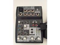 Behringer Xenyx 502 analog mixer