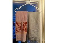 Selection of ladies silk & cotton scarves for sale