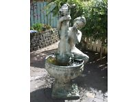 Large solid bronze water fountain, circa 1960's, with pump.