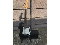 Burswood electric guitar and amp