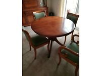 Bradley Dining Table and Four Chairs