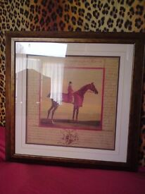 """Vintage style horse pictures - cost over £100 for the 2 when made 23""""x23"""""""