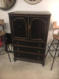 Upcycled Time work finish Cabinet with Drawers