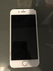 Silver/White iPhone 6. HOME BUTTON DOES NOT WORK BUT CAN USE ASSISTIVE TOUCH.