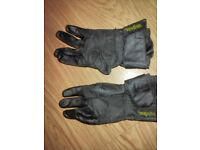 IXS Leather Motorcycle Gloves with Kevlar Small