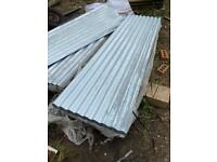 1no 8ft x 2ft galvanised corrugated roofing sheets. Approx 750 available.