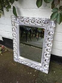Shabby chic mirror distressed ornate mirror