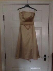 Gorgeous gold size 8 coast dress