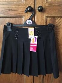 M&S school uniform girls black skirt age 12