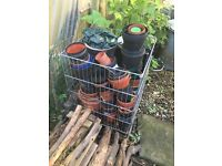 Free- variety plastic pots for planting
