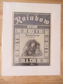 Ted Nugent / Sweet / Rainbow - original adverts from late 1970s