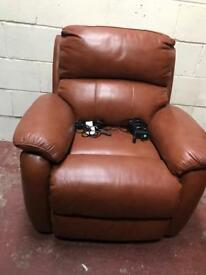 Tan leather fully reclining Arm chair