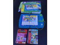 Leap Frog Leap Pad , including original book plus 2 extra books /cartridges