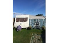 Lexon Luna 4 berth touring caravan with awning and site fees till 31/10/16.