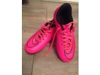 Nike mercurial pink football boots