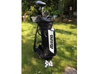 Mizuno golf bag and clubs with exstras