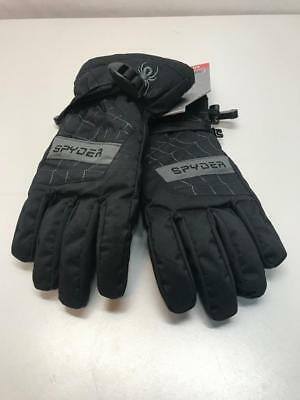 46de4fe0165671 Spyder Kids Overweb Snow Ski Gloves Black Size Medium NEW