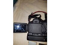 Canon 700D DSLR camera and lenses