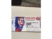 Elton John Tickets x 2 Airdrie - **FRONT ROW BLOCK - FANTASTIC SEATS** £70 each