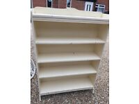 Cream bookcase, perfect for easy upcycling
