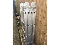 4 section folding and locking ladders rubber secure feet hardly used