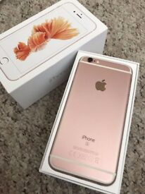Apple iPhone 6S 64GB Rose Gold Unlocked Excellent Condition Boxed