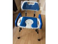 Portable Folding Shower/Commode Chair
