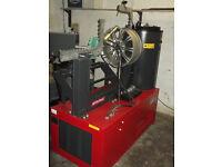 Alloy/Steel Wheel Straightening Machine. Polishing head, DIamond cut lathe