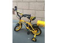 Apollo kids bike with stabilisers