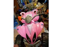 12 volt twin speed strong quad in pink 'as new'