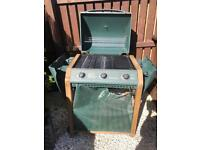 Winchester hooded 3 burner gas barbecue