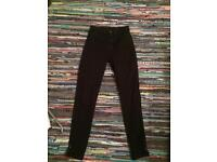 American apparel super high waisted black trousers