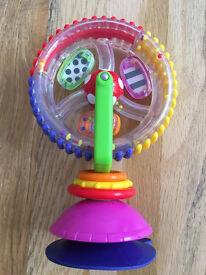 Sassy Wonder Wheel Highchair Toy GUC