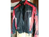 Akito textile motorcycle jacket. Armour and removable thermal liner.
