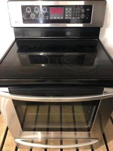LG Ceramic Glass Top Convection Stainless Steel Stove, Free 30 Day Warranty, Save The Tax Event