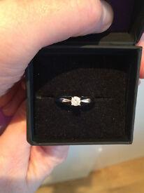 25ct Diamond 9k Certified White Gold Ring