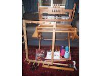 Ashford weaving loom, stand, warping board and lots of extras - table loom, 4 shaft loom