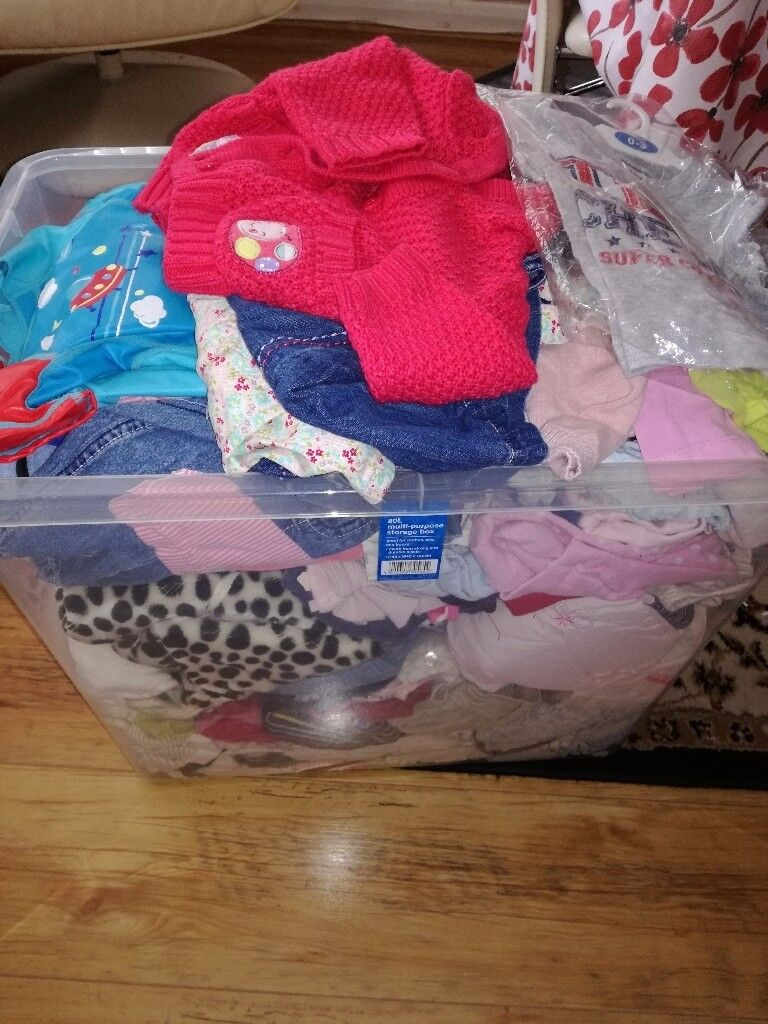 Large box of baby items all 0 _12 months