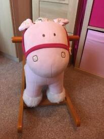 Mamas & Papas Pink Rocking Horse